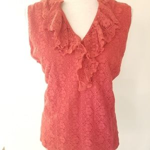 Chaps lace sequence sleeveless top